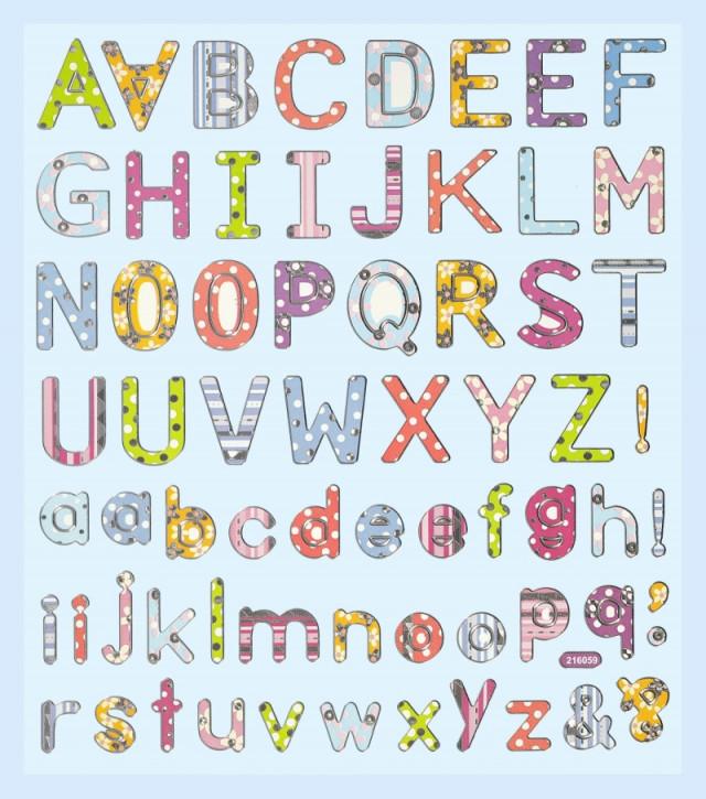 Hobby-Design Sticker Buchstaben