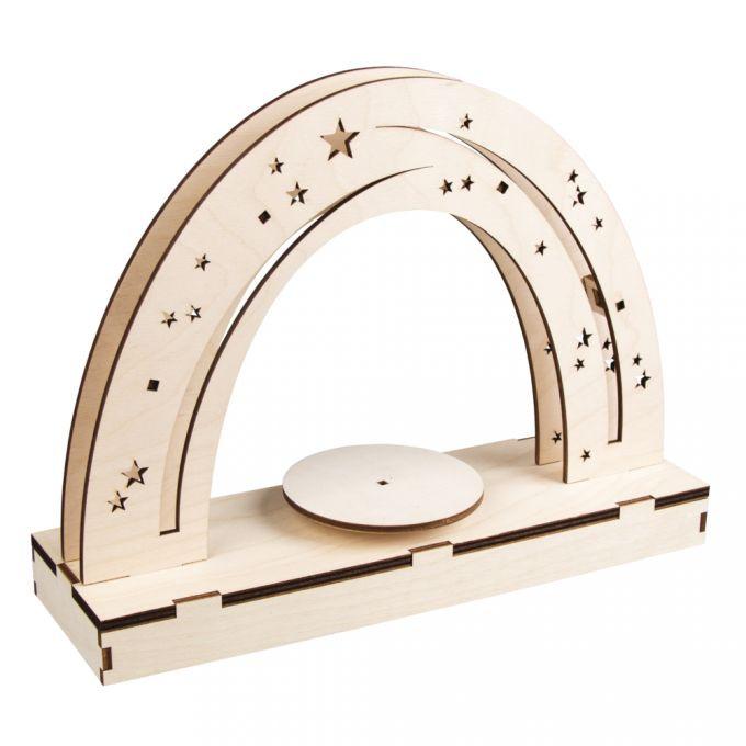 Holz 3D Bausatz Nachthimmel FSCMixCred Wood 3D const.kitNachthimmelFSCMixCred, 30x9x23cm, +turntable, box, natural