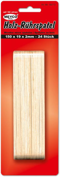 Holz-Rührspatel 150x19x2mm, 24Stück