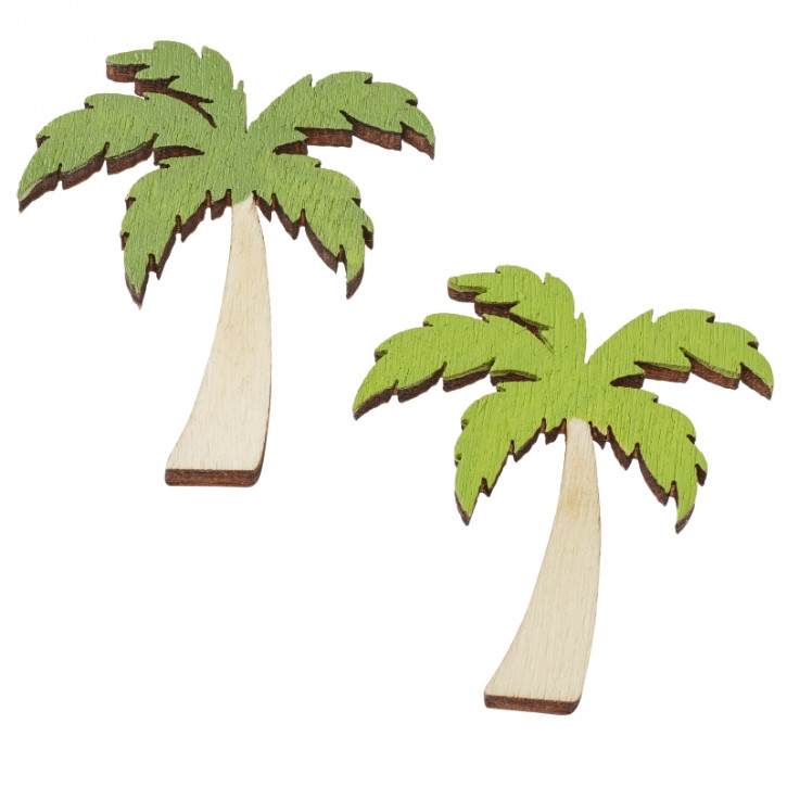 Holz-Streuteile Palme ca. 4 cm. Btl.a 6 Stück