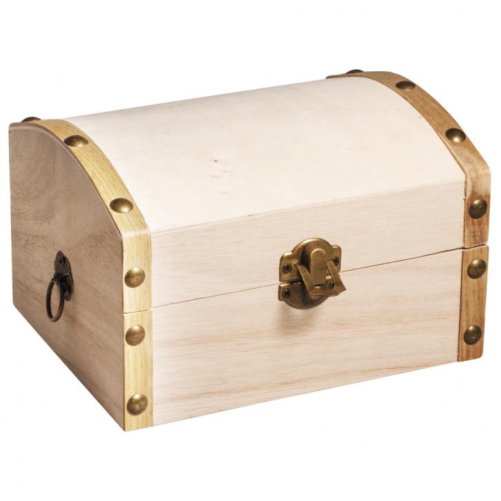 Holz Truhe, 13,5x10x8cm