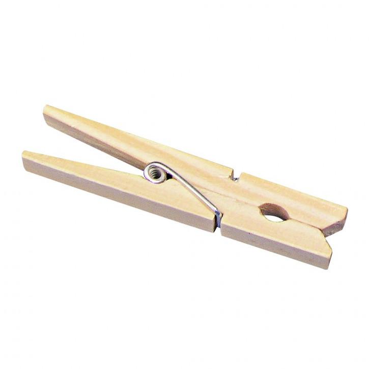 Holz-Wäscheklammern, 72 mm SB-Btl. 24 Stück