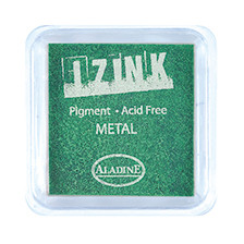 IZINK Pigment Stempelkissen, light-metal-green