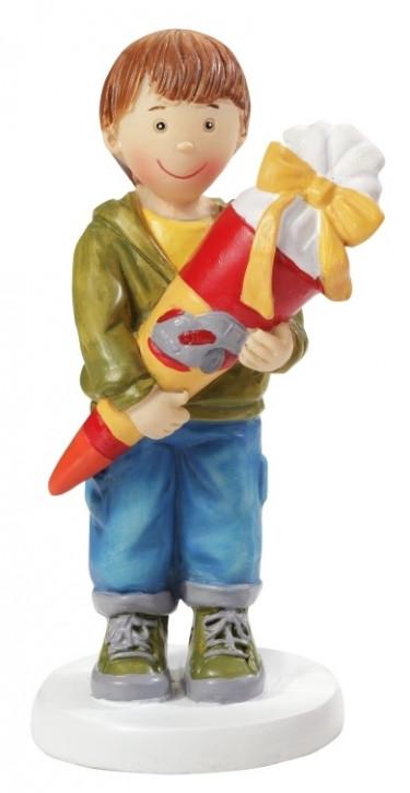 Junge mit Schultüte ca. 8,5 cm