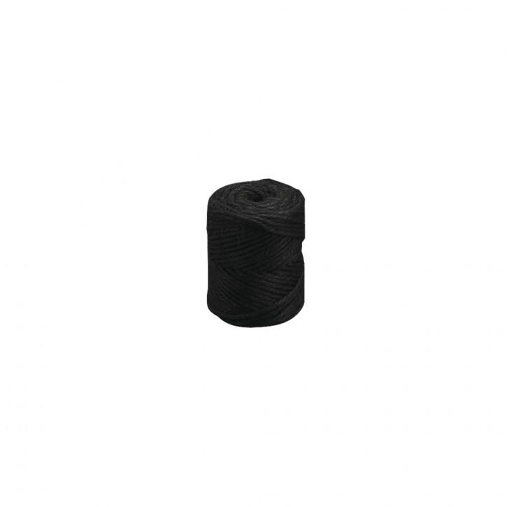 Jutegarn 6fach 6mm schwarz 120m, Makramee