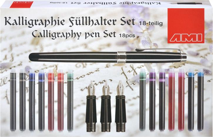 Kalligraphie Füllhalter Set 18tlg.