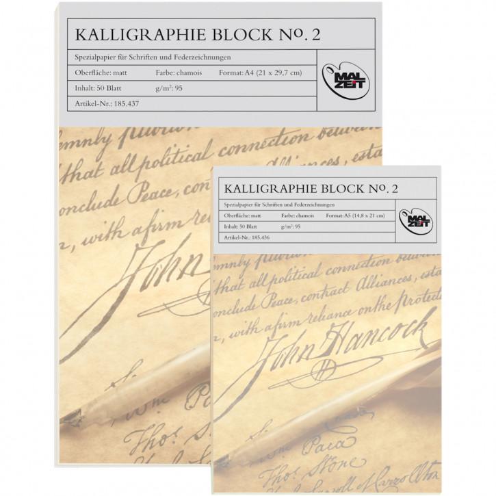 Kalligraphieblock No.2, 95 g, DIN A4, 50 Bl.