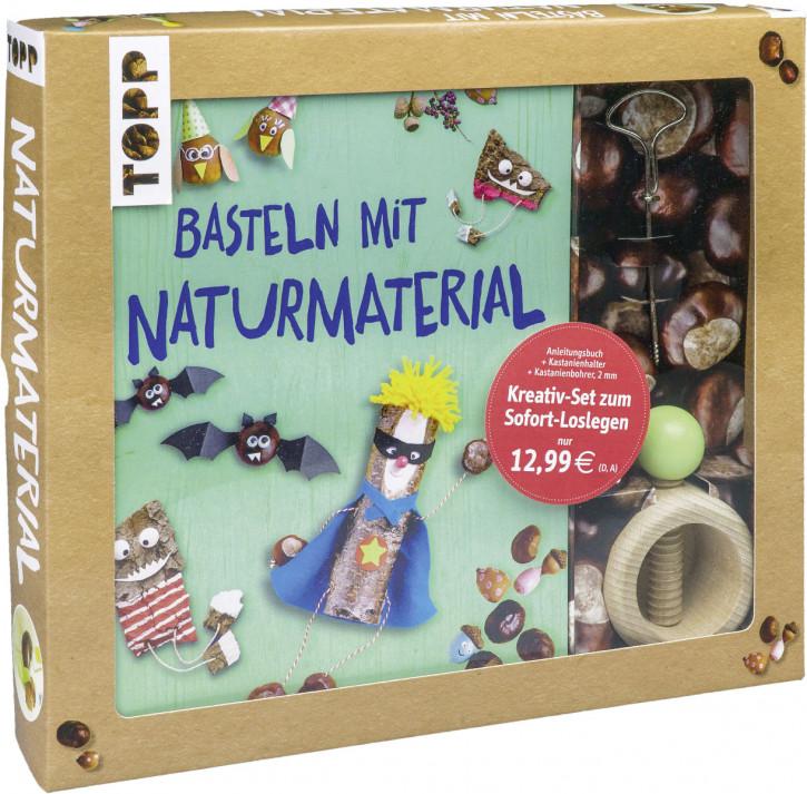 Kreativ-Set Basteln mit Naturmaterial Buch mit Grundlagen und Bastelideen sowie Kastanienhalter und Kastanienbohrer