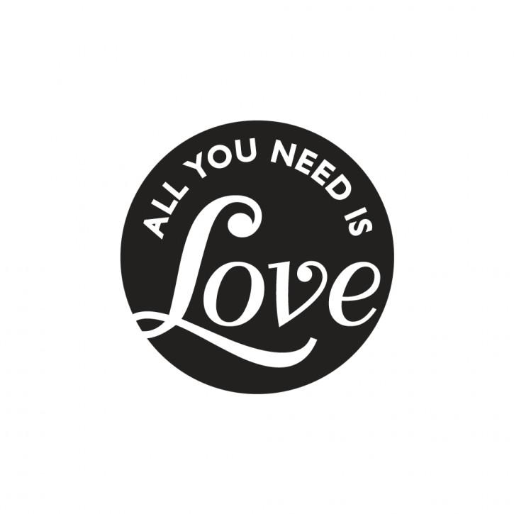 Label All you need is Love, 45mm ø, SB-Btl 1Stück