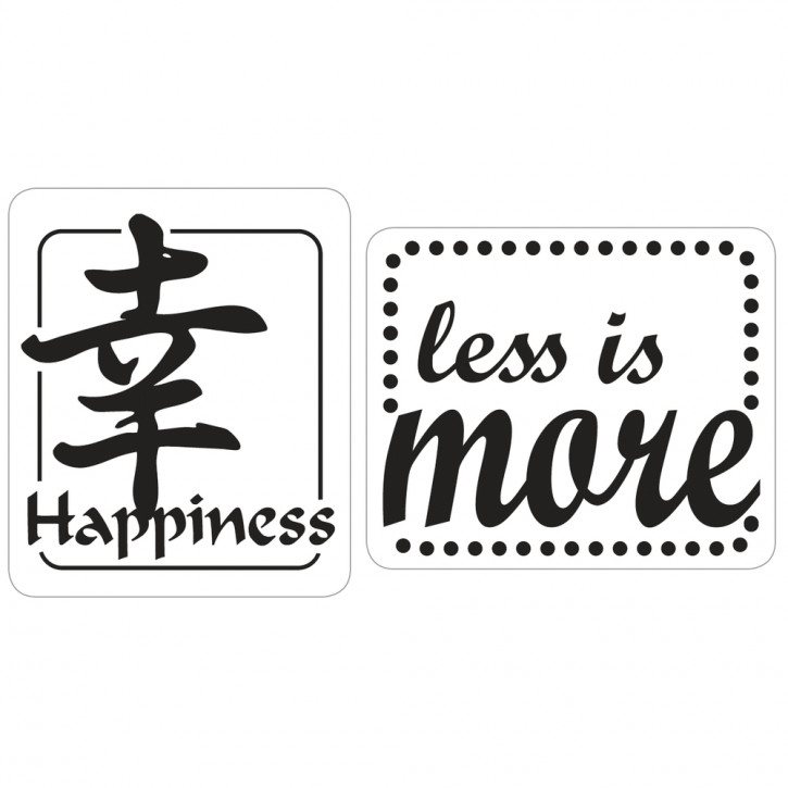 Label happyness, less is more, 25x30mm, SB-Btl 2Stück