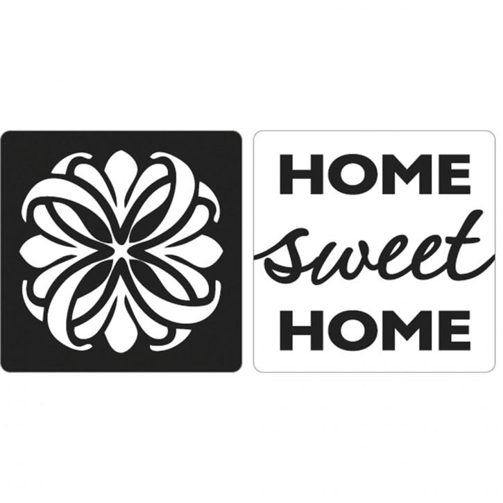 Label Mandala & Home sweet Home, 25x25mm ø, SB-Btl 2Stück