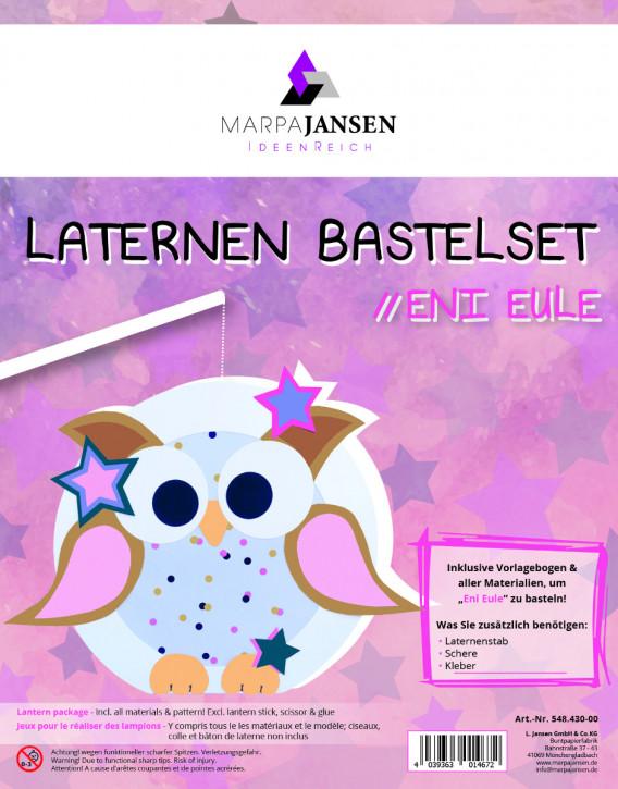 Laternen Bastelset, Eni Eule 22 cm Ø, 1 Set