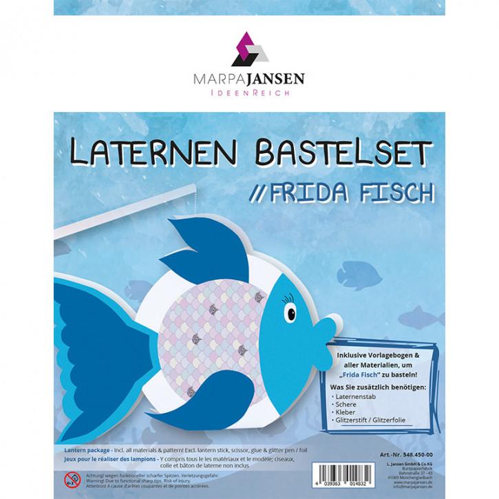 Laternen Bastelset, Frieda Fisch 22 cm Ø, 1 Set