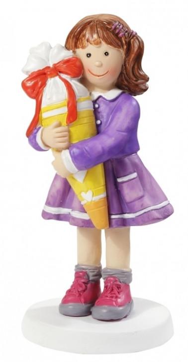 Mädchen mit Schultüte ca. 8,5 cm