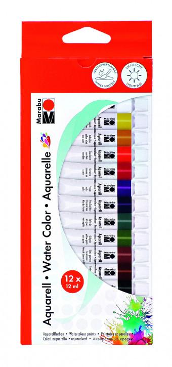Marabu Aquarellfarbenset 12 x12ml