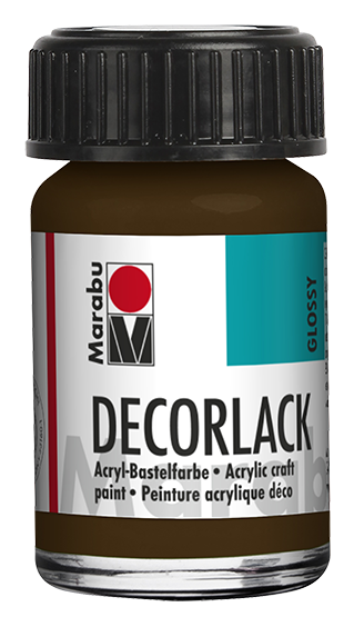 Marabu Decorlack 15 ml Dunkelbraun