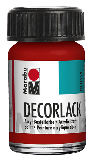 Marabu Decorlack 15 ml Kirschrot