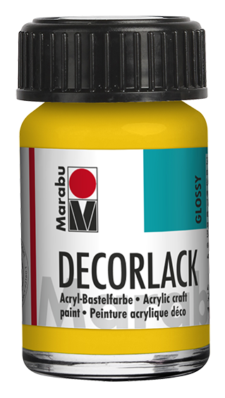 Marabu Decorlack 15 ml Mittelgelb