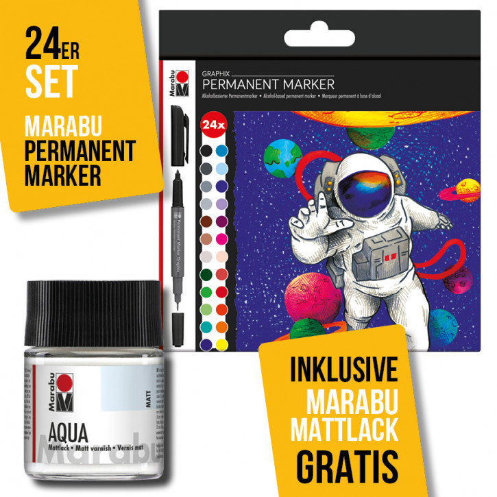 Marabu Permanent Marker Graphix 24er-Sortierung