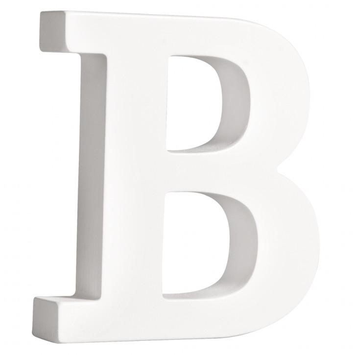 MDF- Buchstabe B, weiß, 11cm, Stärke 2cm