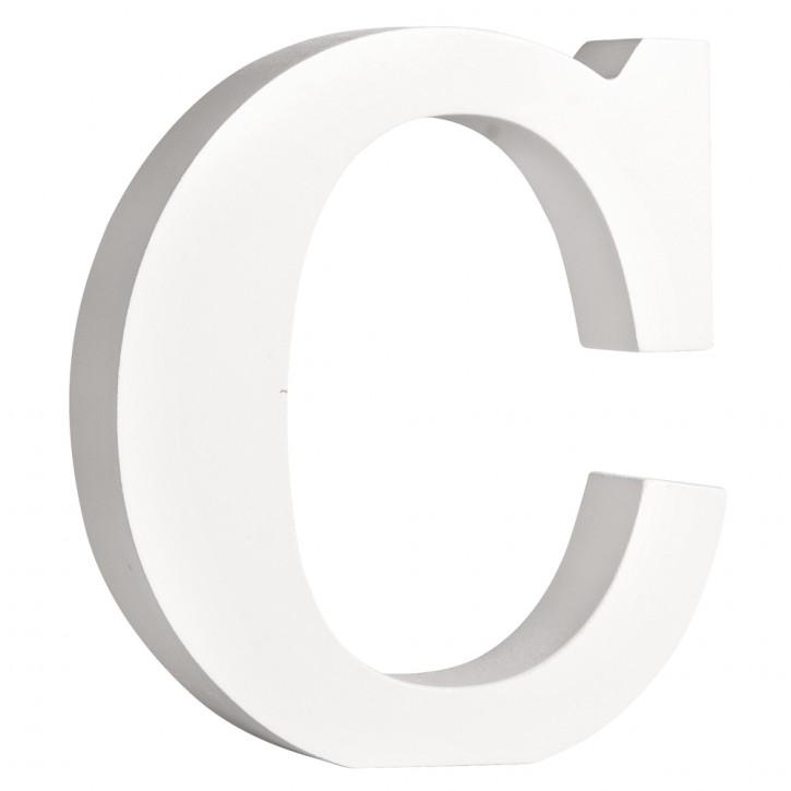 MDF- Buchstabe C, weiß, 11cm, Stärke 2cm