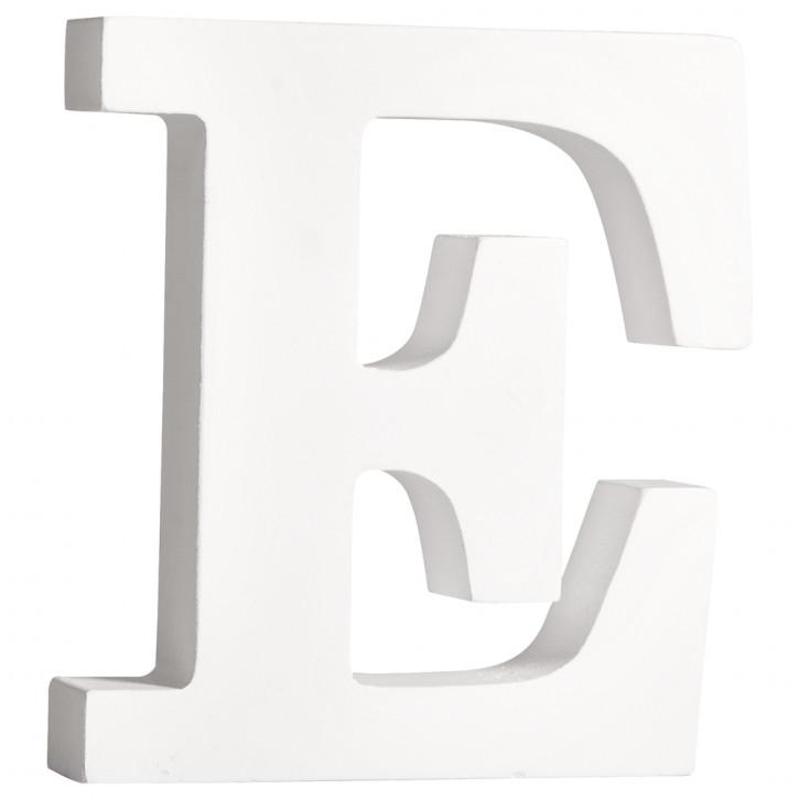 MDF- Buchstabe E, weiß, 11cm, Stärke 2cm