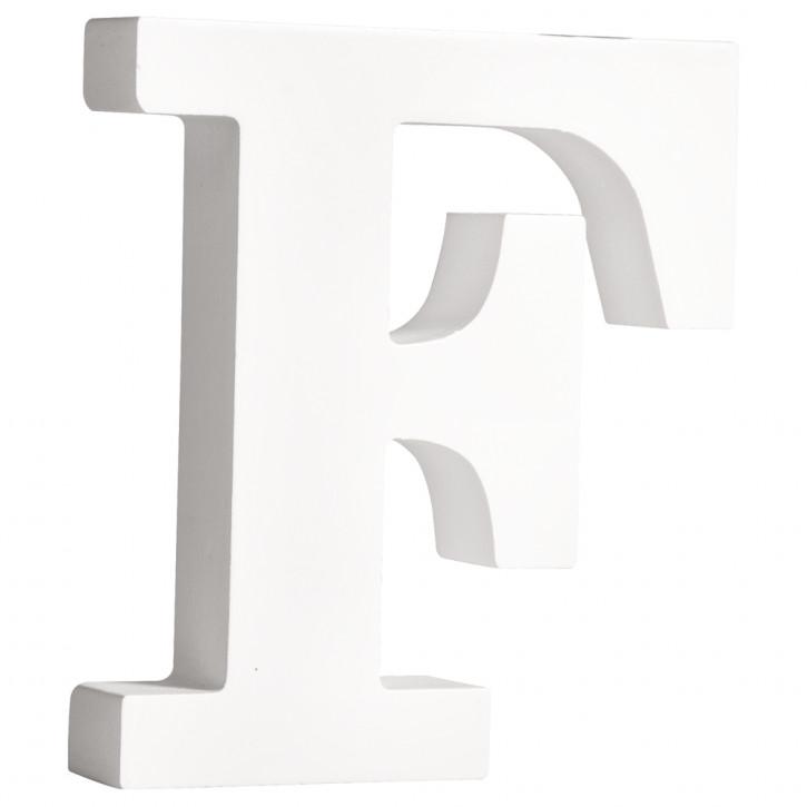 MDF- Buchstabe F, weiß, 11cm, Stärke 2cm