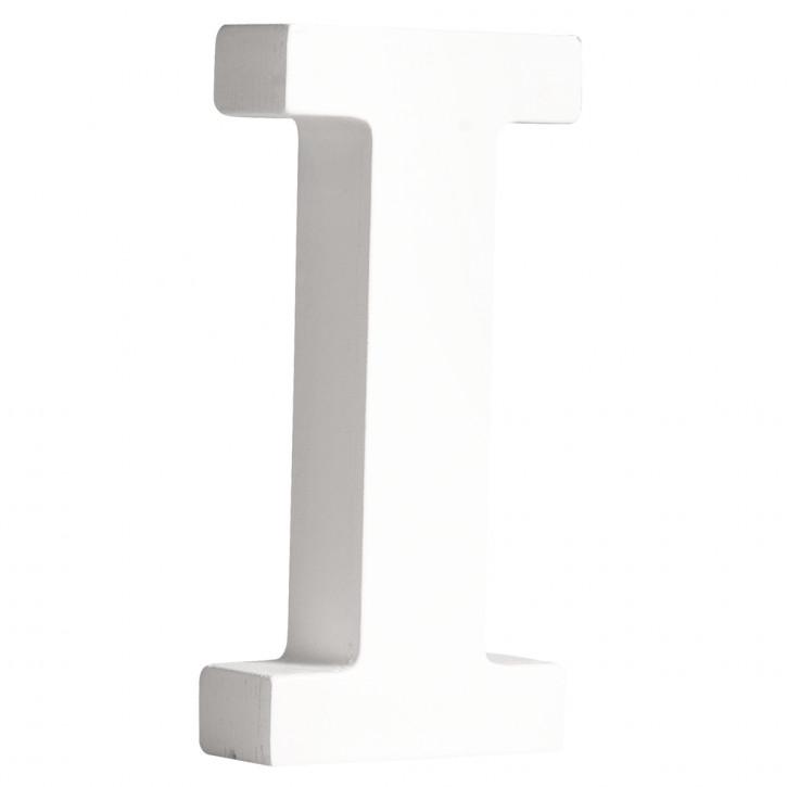 MDF- Buchstabe I, weiß, 11cm, Stärke 2cm