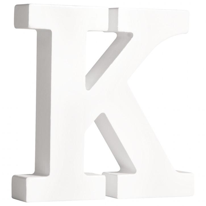 MDF- Buchstabe K, weiß, 11cm, Stärke 2cm