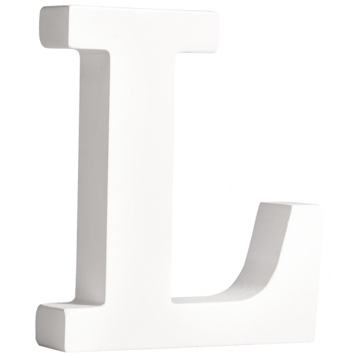 MDF- Buchstabe L, weiß, 11cm, Stärke 2cm