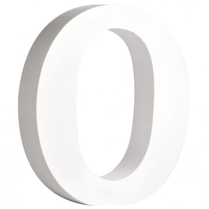MDF- Buchstabe O, weiß, 11cm, Stärke 2cm
