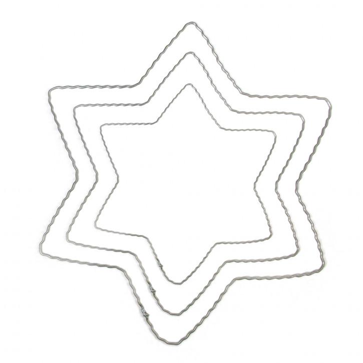Metallstern aus gewelltem Flachdraht, 25 cm