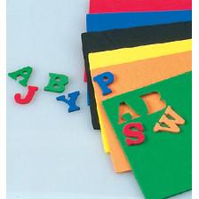 Moosgummiteilemix, Buchstaben, 15x2mm, 156 Stück