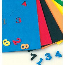 Moosgummiteilemix, Zahlen, 15x2mm, 180 Stück