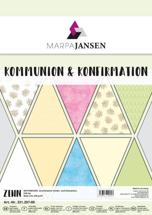 Motivbogen-Sortiment, Kommunion & Konfirmation