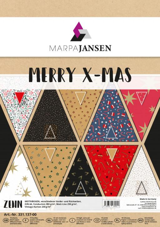 Motivbogen-Sortiment, Merry X-MAS