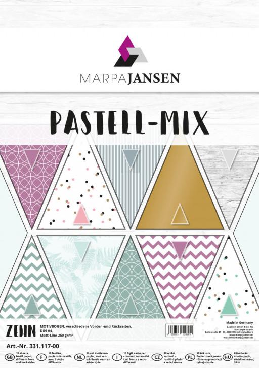 Motivbogen-Sortiment, Pastell-Mix