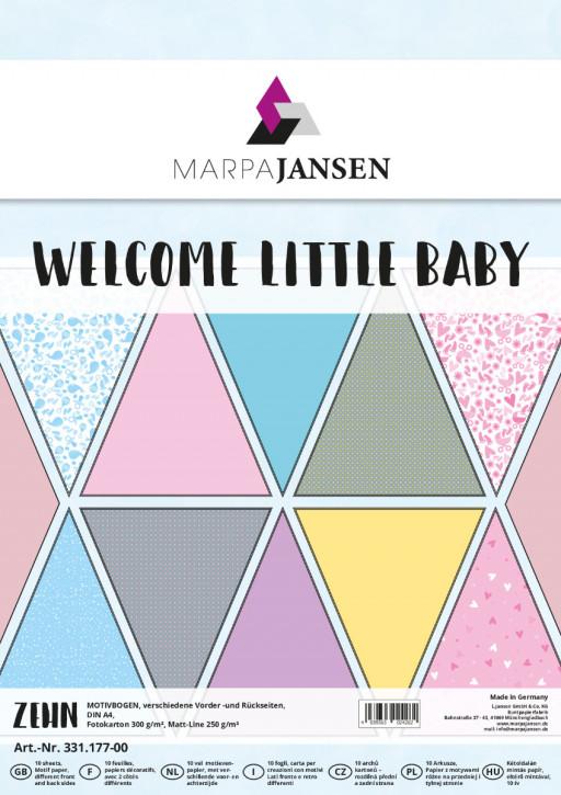 Motivbogen-Sortiment, Welcome Baby