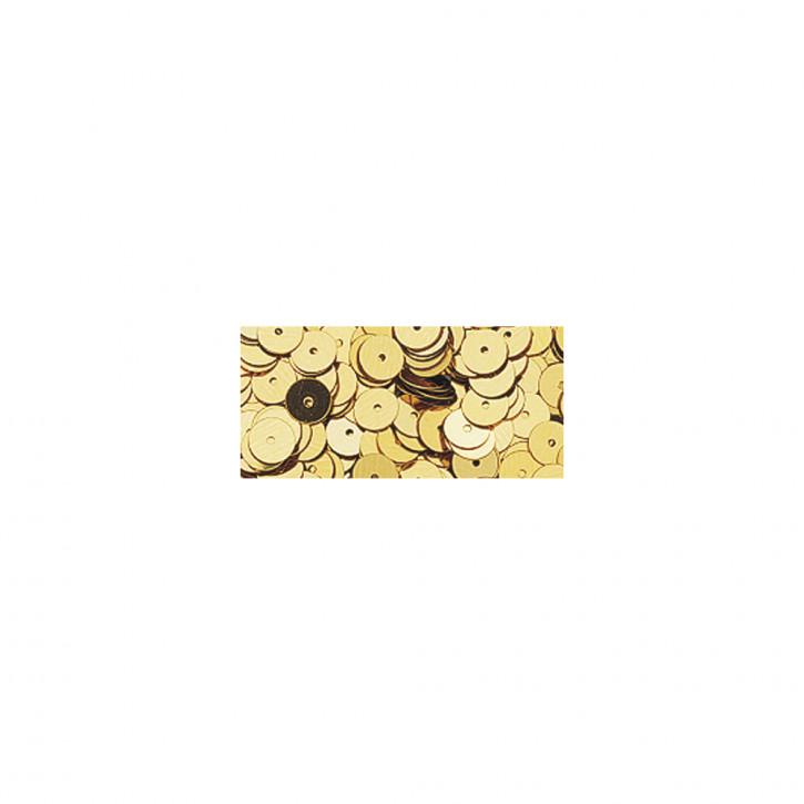 Pailletten glatt 6 mm Gold