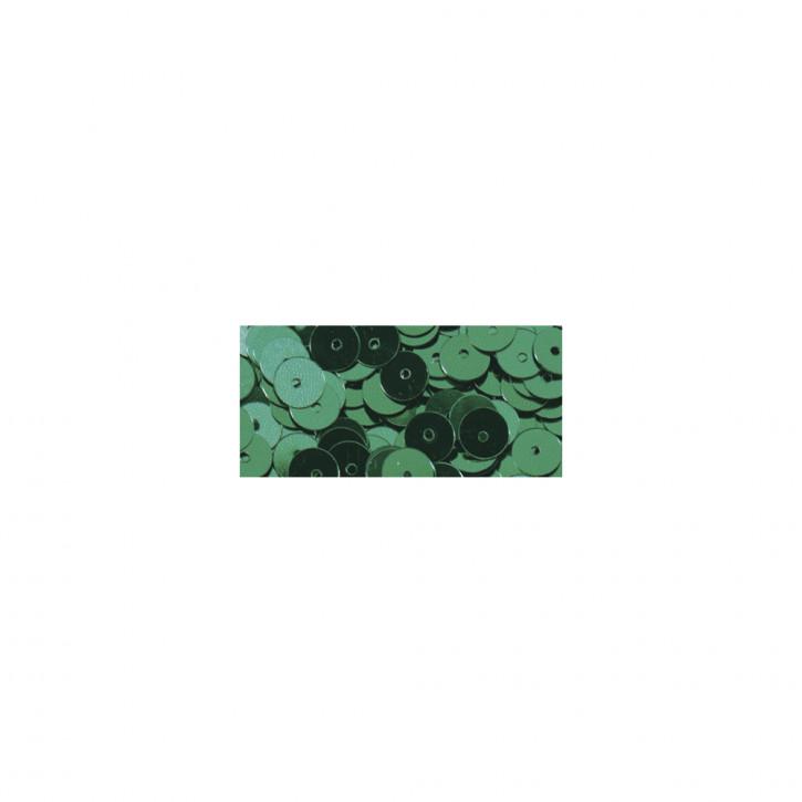 Pailletten glatt 6 mm Grün