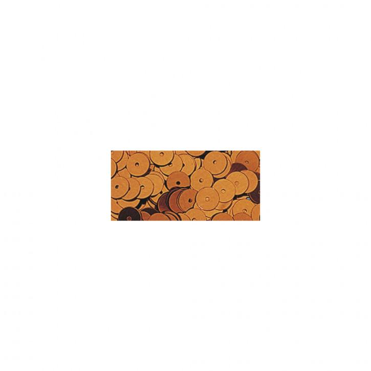Pailletten glatt 6 mm Kupfer