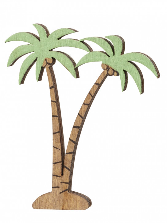 Palme aus Holz 7 cm