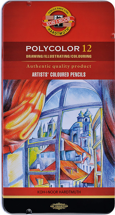 Polycolor Künstlerfarbstifte Set 3800 12 Stück