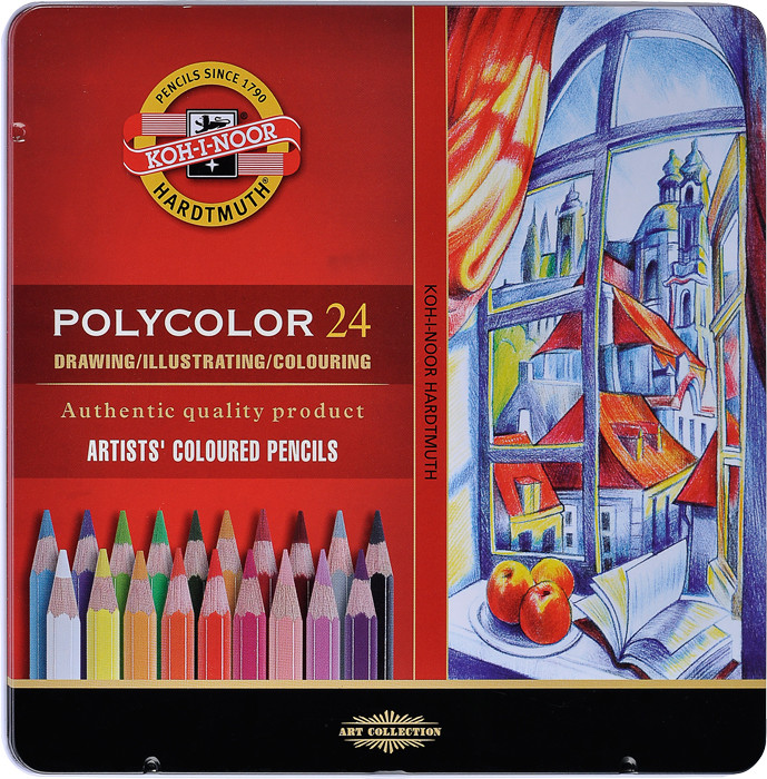 Polycolor Künstlerfarbstifte Set 3800 24 Stück