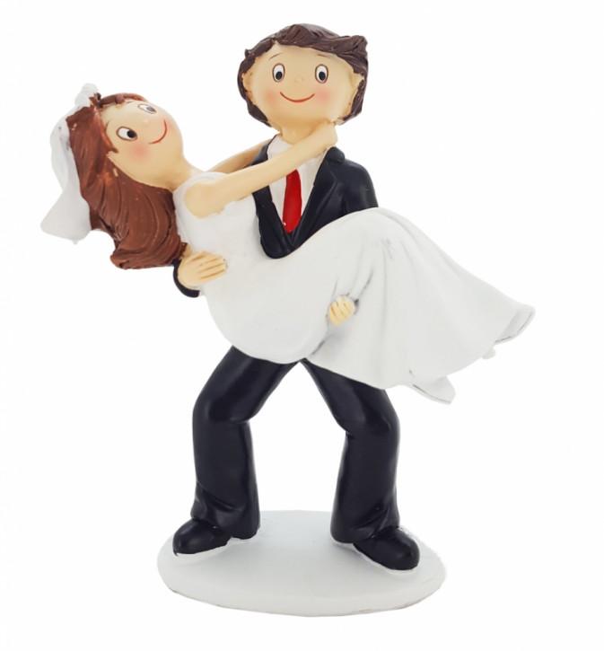 Polyresinfigur Braut über die Schwelle 17 cm