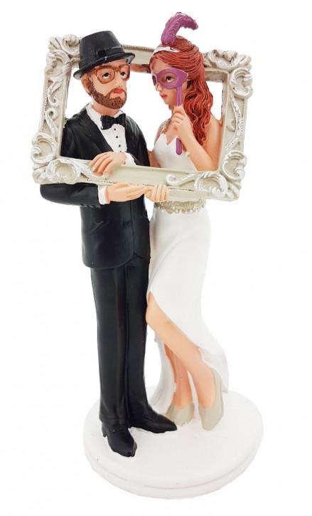 Polyresinfigur Hochzeitspaar Künstler 9x19 cm