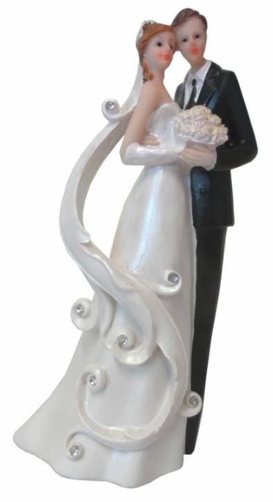 Polyresinfigur Hochzeitspaar mit Schleier 21 cm