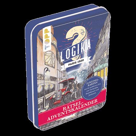 Rätsel-Adventskalender - Logika Paris 1920 24 Rätselkarten aus der goldenen Zeit von Nachtclubs, Kunstikonen und Jazzbands. Mit illustriertem Stadtplan