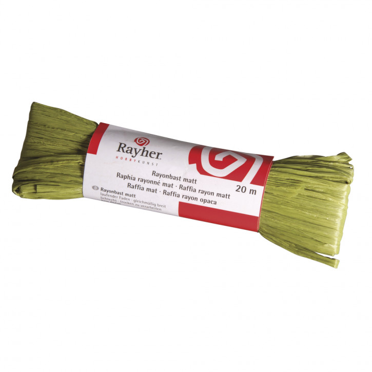 """Rayonbast matt """"olive"""" 20m"""