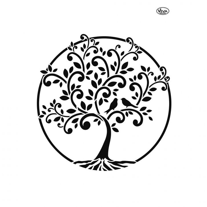 Schablone A4 Baum des Lebens